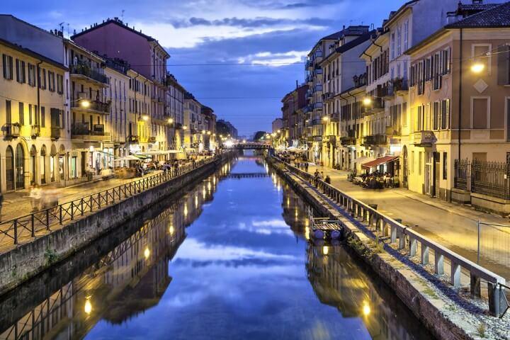 districto Navigli em milão - itália