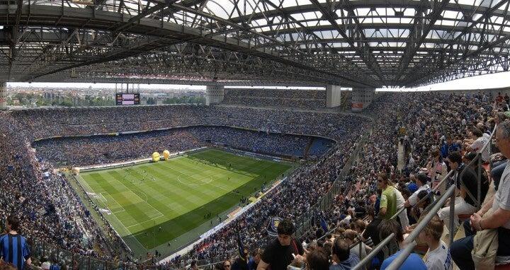 estádio san siro em milão - itália