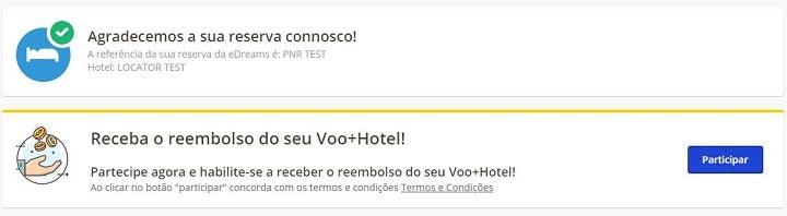 concurso reserva voo + hotel com edreams
