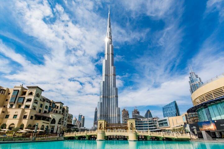 edifício Burj Khalifa em dubai
