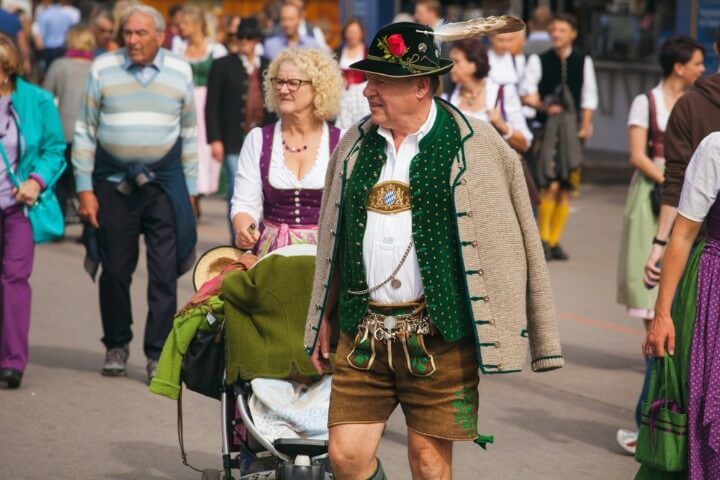 chapéus bávaros Tirolerhüte em oktoberfest