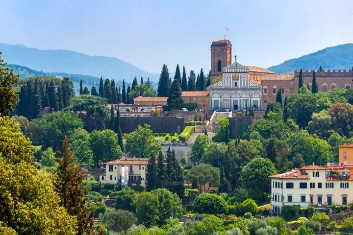 Basilica San Miniato al Monte em florença - Itália